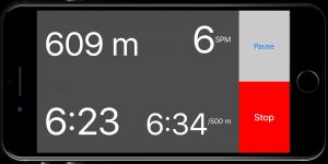 Ein Ruder-Training mit RowingCoach auf dem iPhone