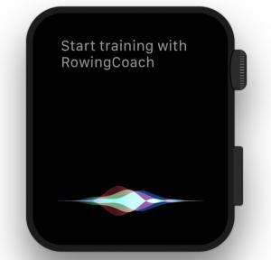 Workout start using Siri