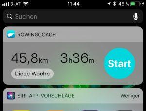 RowingCoach widget