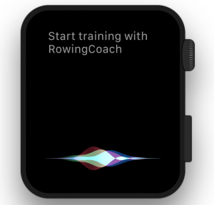 Workout start using Siri
